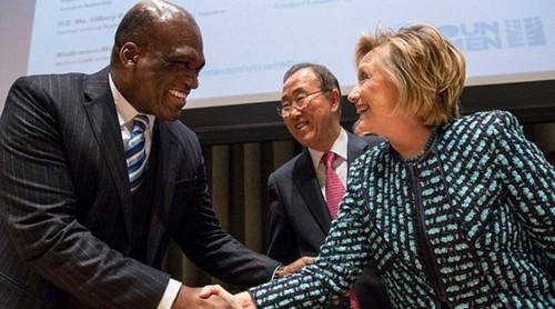 Hillary Clinton and John Ash