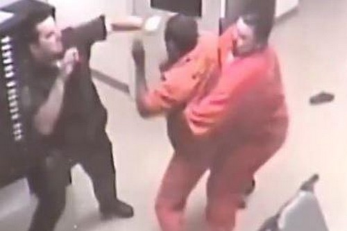 Inmates save guard from violent attack by fellow prisoner