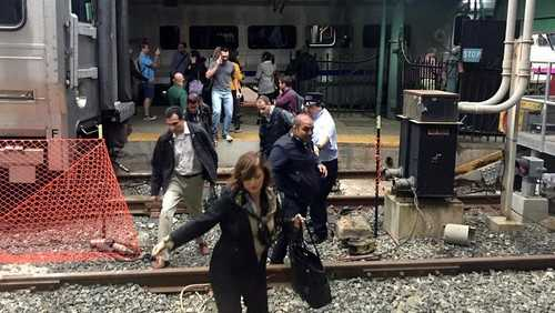 train station crash in New Jersey