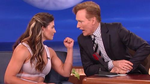 Miesha Tate Late Night with Conan O'Brien