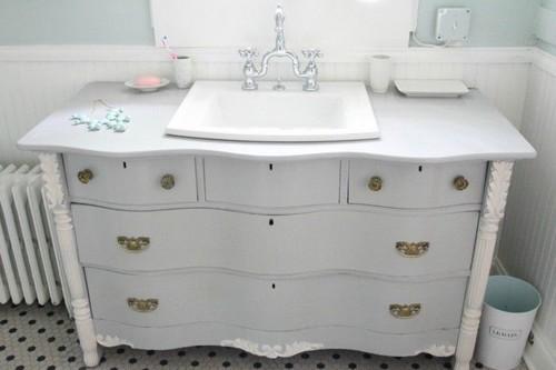 Old Dresser Refurbished and Bathroom Vanity
