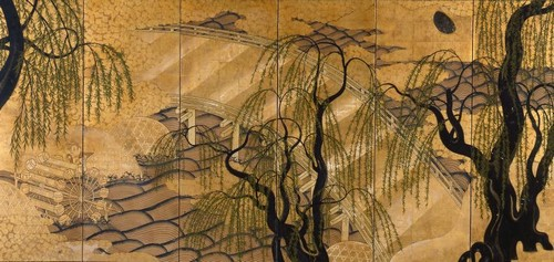 Painted Japanese screens