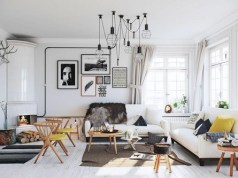 outfitting a white room with jazzy fixtures