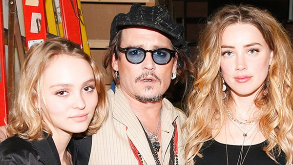 Johnny Depp With Amber Heard and Daughter, Lily-Rose