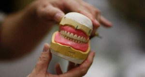 Elderly Man's Dentures Deflect Bullet