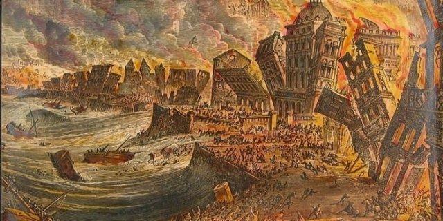 1755 The Great Lisbon Earthquake and Tsunami, Portugal