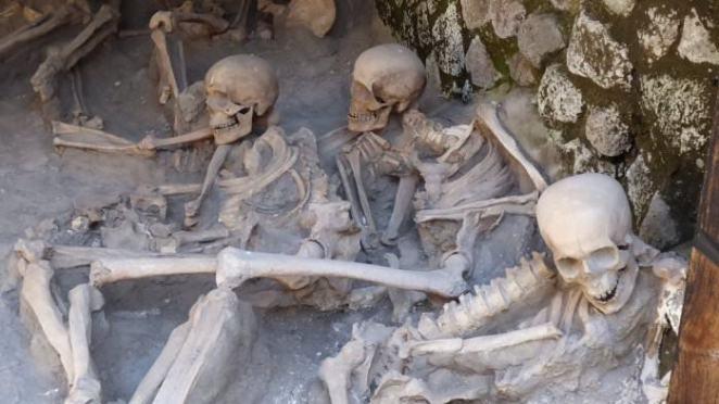 Skeletons in Herculaneum, Ercolano Italy