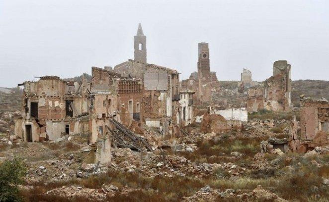 Spanish village of Belchite