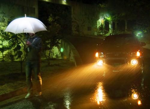 The LightDrops Rain-Powered Electric Umbrella