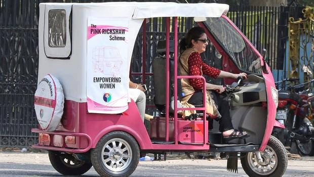Woman Rickshaw Driver