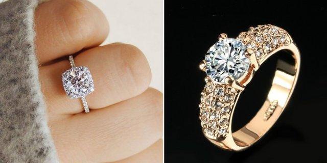 Cubic Zirconia Classic Engagement Rings