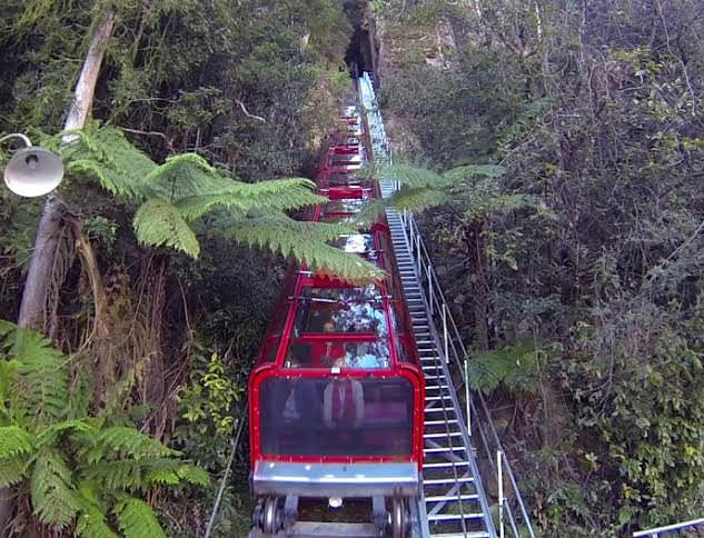 Katoomba's Funicular, in Australia