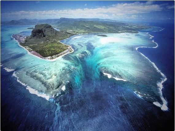 Underwater Waterfall - Mauritius Island