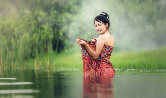 Beautiful Cambodia woman