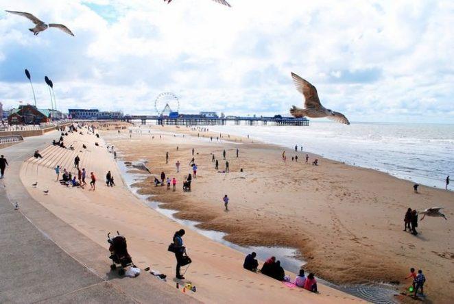 Blackpool Beach UK