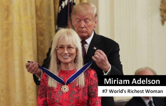 Miriam Adelson richest women in the world 2021