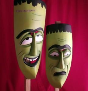 Frankenstein Comedy & Tragedy Masks - Featured Shot