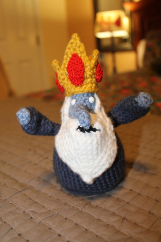 Ann is crocheting the Ice King for our Wonderstrange Adventure Time gift basket, coming to our Wonderstrange Etsy shop in June!