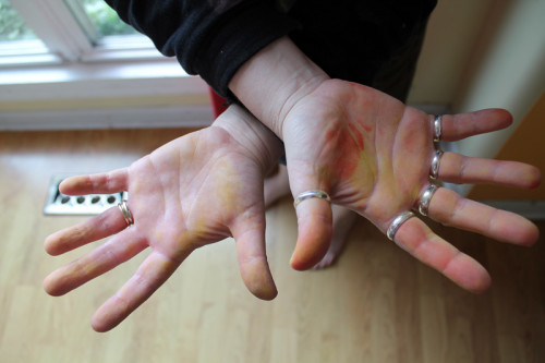 Hands After Sanding