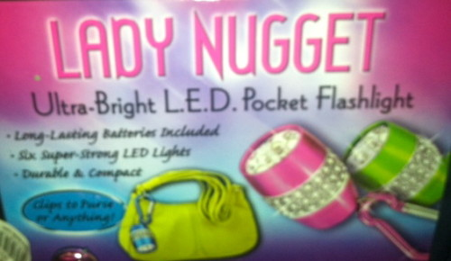 Cindy cannot imagine a less fortunate name for a flashlight. Can you?