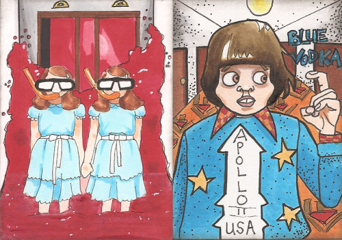 Ann spent the weekend making and trading art, much of it inspired by *The Shining*, one of her Top 5 favorite films.