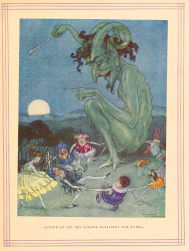 Juvenile-Book-illustration-Fairy-Tale-Contess-de-Roses-Dancing-with-the-Devil