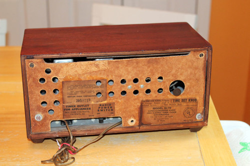 02 Clock Radio from Back