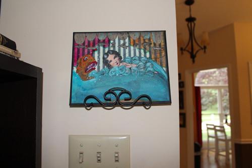 Mixed Media Canvas on Wall