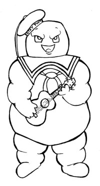 Stay Puft Marshmallow Man Coloring Pages Coloring Pages