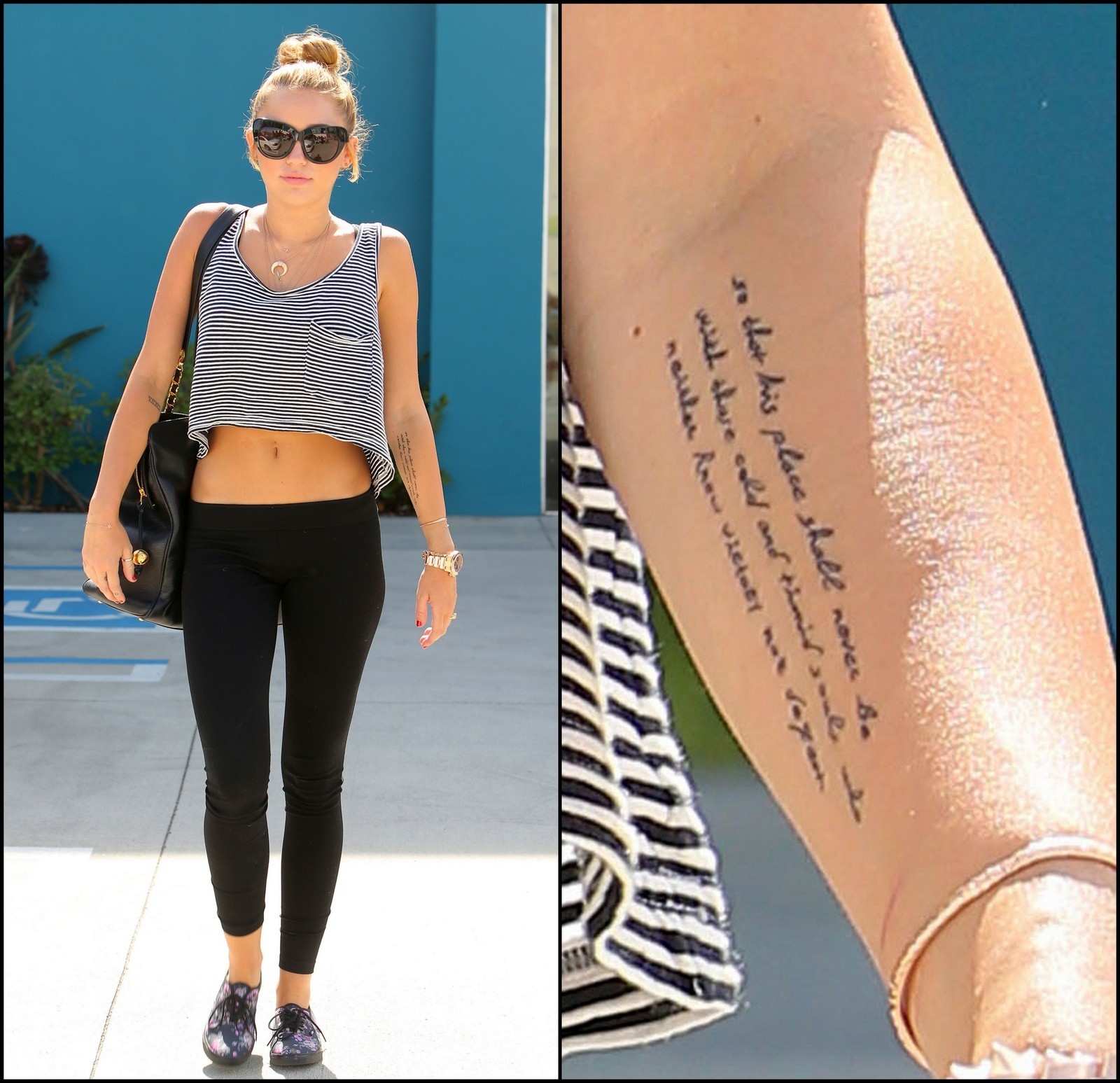 Miley Cyrus Shows Rolling Stone Tattoo Feet