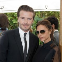 David Beckham Victoria Beckham black