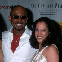 Montel Williams and Kamala Harris