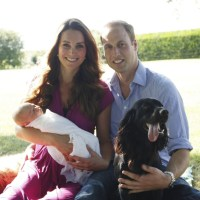 Prince William, Duchess Kate, Prince George, Lupo