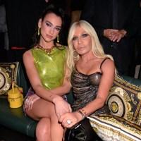 Dua Lipa and Donatella Versace