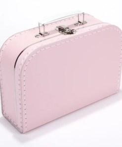 Kinderkoffertje licht roze, met bedrukking
