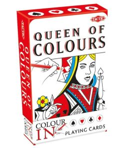 Queen of colours, speelkaarten zelf in te kleuren