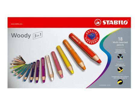 Stabilo - Woody, 18 stuks