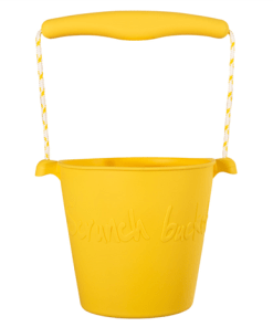 Scrunch buttercup yellow bucket, opvouwbare emmer, wonderzolder.nl