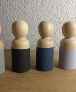 Houten poppetjes man, papa, peg doll, wonderzolder.nl
