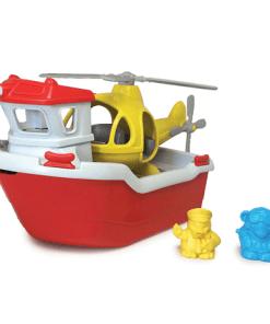 Green Toys Reddingsboot met helikopter -liefsvanlauren.nl
