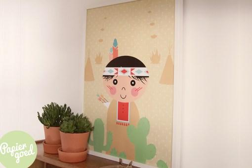 Poster indiaan van Papiergoed