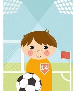 Poster voetballer van Papiergoed