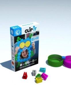 Clip-it Uil, plastic doppen bouwen Clip it -wonderzolder.nl