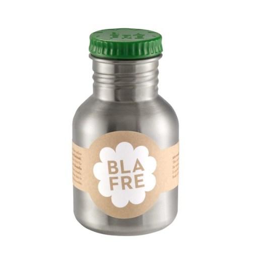 Steel bottle 300 ml Dark Green, Blafre, legergroen -wonderzolder.nl
