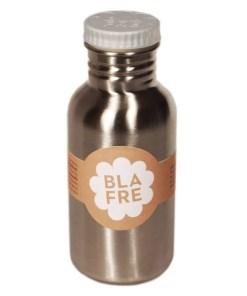 Steel bottle 500 ml Grey van Blafre, drinkfles RVS -wonderzolder.nl