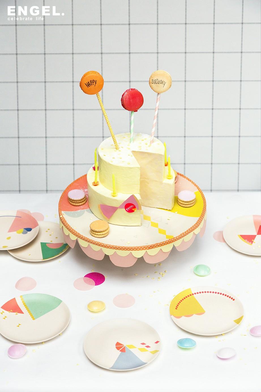 Cool Set Cake Bordjes Print Van Engel Engelpunt De Wonderzolder Birthday Cards Printable Trancafe Filternl