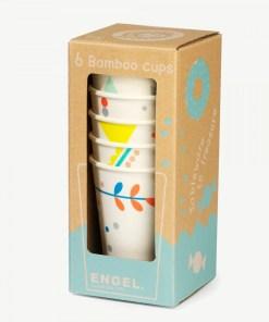 set bamboe bekers 'Print' Engel. engelpunt -wonderzolder.nl