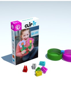 Clip-it Bloem, plastic doppen speelgoed Clip It -wonderzolder.nl