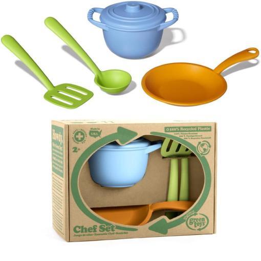 Chef set Green Toys, keuken setje, Wonderzolder.nl