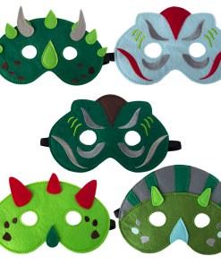Vilten dino maskers, global affairs, wonderzolder.nl